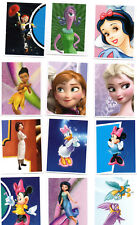 LOT 12 STICKERS ADHESIFS PRINCESSES FILLES DISNEY 50x65 mm - NOEL COLLECTION