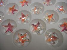 4 swarovski strass crystal star shaped pendants,28mm crystal bue AB #8815