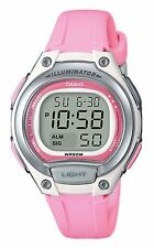 Casio LW203-4AV, Women's Digital Chronograph Watch, Pink Resin Band, Alarm