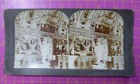 Antique Stereoscope Photograph Corner of Vatican Library, ROME, Italy Stereoview