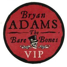 Bryan Adams 2010 Bare Bones Tour Stick-on Backstage Pass Unused Red