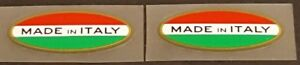 Made in Italy Decals - Oval (Red/Green) - 1 Pair (sku 10417O)