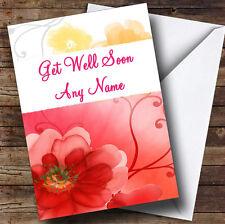 Flower Personalised Get Well Soon Greetings Card