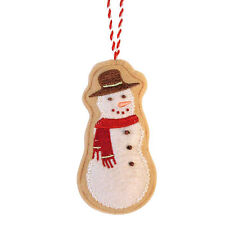 "Comfort & Joy Felt ""Sugar Cookie"" Snowman Christmas Ornament"