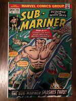 Sub-Mariner #63 (Jul 1973, Marvel) White/Off-White Pages