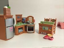 Fisher Price Loving Family Kitchen Coffee Pot Oven Light Sounds Microwave