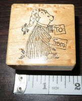 Psx To From F3340 Present Gift Tag Wooden Rubber Stamp