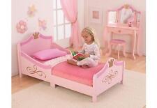 Lit traîneau pour petite fille motif princesse couleur rose 76139