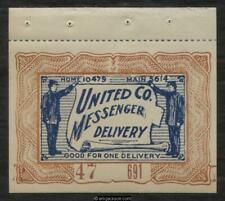 United Co. Messenger Delivery Mosher Ucmd-S2Bp booklet pane of one, mint, Vf