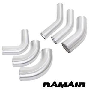 Universal Brushed Alloy Elbow Aluminium Bend Metal Intake Intercooler Boost Pipe