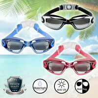 Swimming Goggles Anti Fog UV Protection Waterproof Electric Plating Glasses AT5