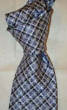 "$250 NWT TOM FORD Lilac w/Purple & white Mosaic check 3.9"" woven SILK tie ITALY"