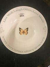 NEW Lenox Butterfly Meadow Sentiment Serving Bowl Live Well, Laugh Often, Love