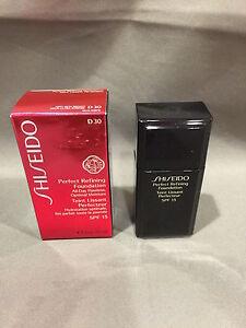 NIB Shiseido Perfect Refining Foundation  D30 Very Rich Brown SPF 15 1oz / 30ml