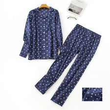 Mens 100% Cotton Pajamas Set Shirts&Pants Suits Plaids Sleepwear Loungewear Pjs