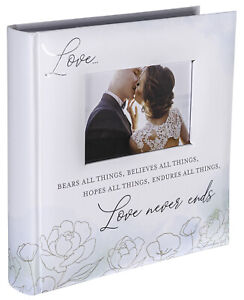 Love Never Ends Watercolors 2-Up BookBound Photo Album (Holds 160 4x6 Photos)