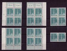 Berllin 142 x w postfrisch Eckrand , DZ , Viererblock oder waagerechtes Paar MNH