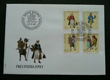 Switzerland Traditional Trade Pro Patria 1990 Uniform Business Job Career (FDC)