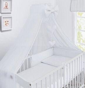 BEDDING SET BABY COT COTBED PILLOW DUVET COVER BUMPER 3/6/10/14Pc 100% COTTON