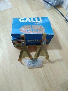 Galli toe clips in gold track campagnolo bianchi cinelli colnago mozer NOS