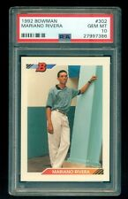 1992 Bowman #302 Mariano Rivera Rookie PSA 10 *Gem Mint* i7502