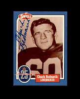 Chuck Bednarik Signed 1988 Swell Philadelphis Eagles Autograph