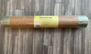 "Schumacher Natural Handcrafted Grasscloth Wallcovering Double Roll 36"" x 8 yards"