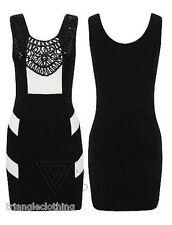 Polyester Mini Striped Sleeveless Dresses for Women