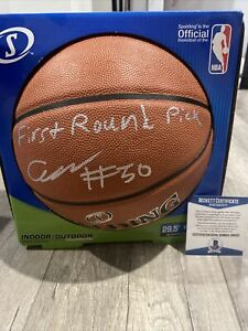 COLE ANTHONY SIGNED BASKETBALL BECKETT First Round pick 2020 NBA Draft