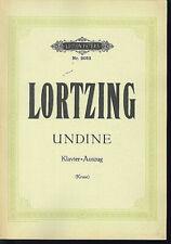 LORTZING ~ UNDINE - Klavier-Auszug mit Text D ( Kruse )