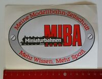 Aufkleber/Sticker: Miniaturbahnen MIBA Modellbahn-Zeitschrift (08051723)