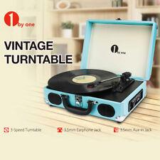 Birthday/ X'mas Gift Portable Vintage Vinyl Record Player Turntable W/ Speaker