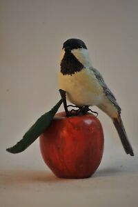 Black cap Chicadee life size Sculpture/ Carving