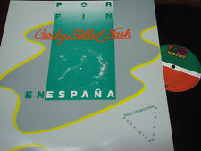 "CROSBY, STILLS & NASH - Por Fin En España, LP 12"" SPAIN 1983 RARE PROMO"