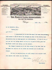 1894 Harvey Land Association - Steel Car Company - Chicago Il - Letter Head Rare