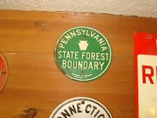 Pennsylvania State Forest Boundary Sign