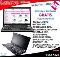 PORTATIL ORDENADOR OCASION LENOVO X230 I5 3320M 2,6GHZ 4GB RAM 320GB DISCO 12,5
