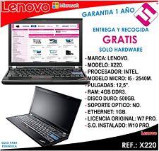 PORTATIL ORDENADOR OCASION LENOVO X230 I5 3320M 2,6GHZ 4GB RAM 500GB DISCO 12,5