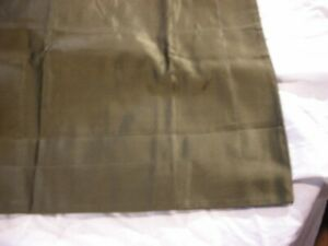 RALPH LAUREN  Olive Green in PURE SILK SQUARE DECORATIVE  PILLOW  NEW $195