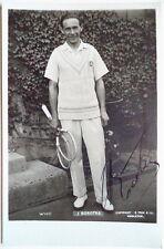 Jean Borotra 1924 Wimbledon signé Tennis carte postale
