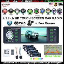 4''1 Din Car Radio+Camera Bluetooth AM/FM/RDS Stereo Mirror Link MP5 Player AUX