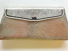 Vintage Sterling Mesh Made in Nsw Australia Structured Gold Clutch