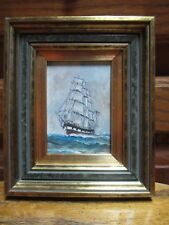 Attributed Erik A R Ronnberg Miniature Rigged Ship Painting
