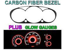 COMBO - Type R RED Glow Gauge + Carbon Fiber Bezel For 02-05 Honda Civic Si EP3