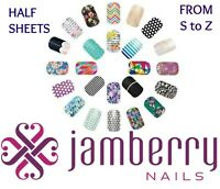 jamberry half sheets * S to Z * buy 3 & get 1 FREE!  NEW STOCK 11/15 !! 🎁