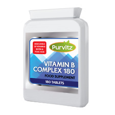 Vitamin B Complex 180 Tablets Contains all Eight B Vitamins in one tablet RDA UK