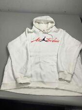 Men's Air Jordan White Embroidered Hoodie Size 2XL