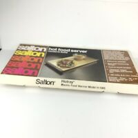 Vintage Salton Hotray Automatic Food Warmer Hotspot Warming Tray H-1005 Gold