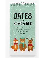 Inkdotpot Winter Wonderland Animal Rustic Perpetual Calendar Birthday-xQi