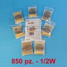 KIT 850 resistenze 1/2W set completo di resistenze 85 valori - ART. A007